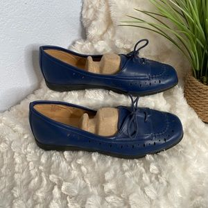 Comfort view  loafers blue 9.5 Wide